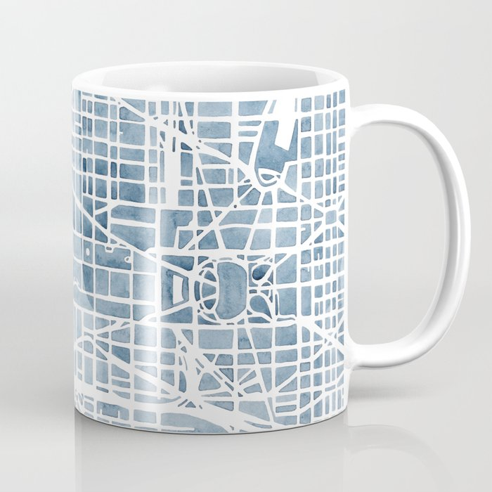 Washington dc blueprint watercolor map coffee mug by aemcdraw society6 washington dc blueprint watercolor map coffee mug malvernweather Images