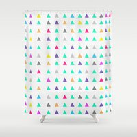 confetti Shower Curtains featuring Confetti by Leah Flores