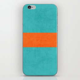 aqua and orange classic iPhone Skin