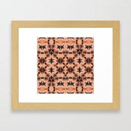Polynesian Neo Tribal Orange Glow HDR Framed Art Print