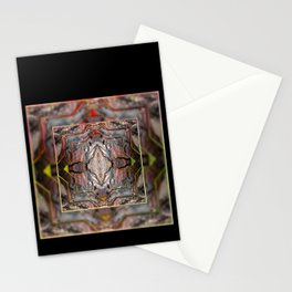 Petrified wood in abstract ... Stationery Cards