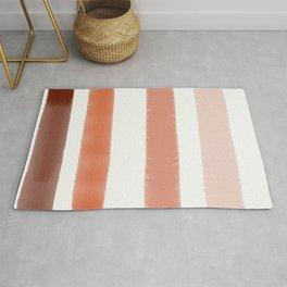 degraded orange lines Rug