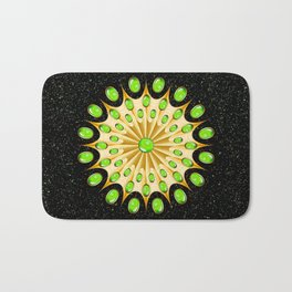 Mandala Gold and Emeralds Bath Mat