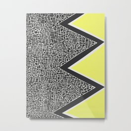 Abstract Mountain Range Metal Print