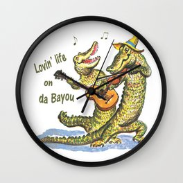 On da Bayou Wall Clock