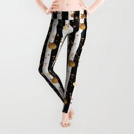 Stripes & Gold Splatter Leggings