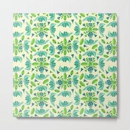 Succulent Pattern Metal Print