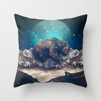 jazzberry Throw Pillows featuring Under the Stars (Ursa Major) by soaring anchor designs