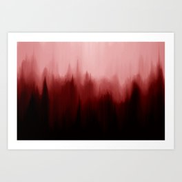 Blood Pines Art Print