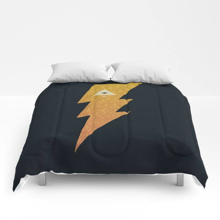 Something with lightning and stuff Comforters