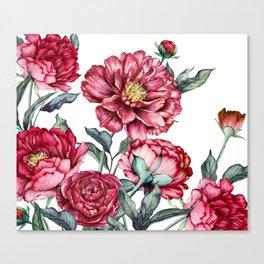 flower watercolor4 Canvas Print