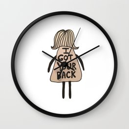 I Got Your Back #GirlScouts #Fundraiser Wall Clock