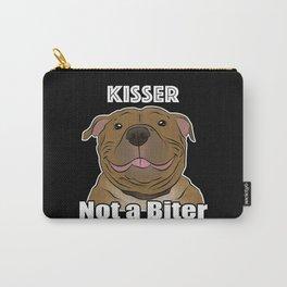 Pitbull Kisser Not a Biter Carry-All Pouch