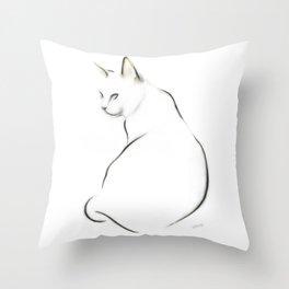 Cat Study Throw Pillow
