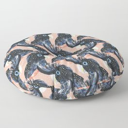 Black Cockatoos Floor Pillow