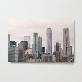 View of Manhattan Buildings Metal Print