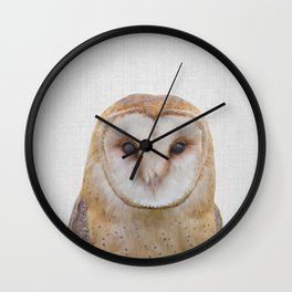 Owl - Colorful Wall Clock