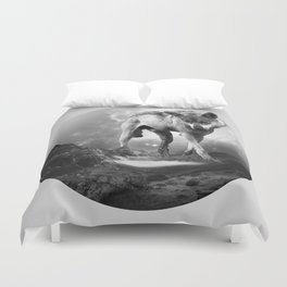 Galactic Wolf Duvet Cover