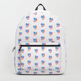 Watercolor Heart USA Backpack