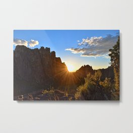 End of The Day at Smith Rock Metal Print