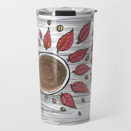 Hot coffee on a chilly fall day Travel Mug