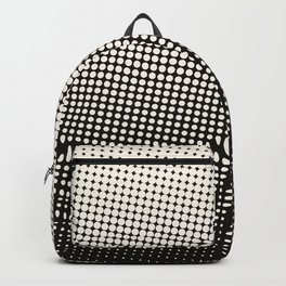 White & Black Halftone Backpack