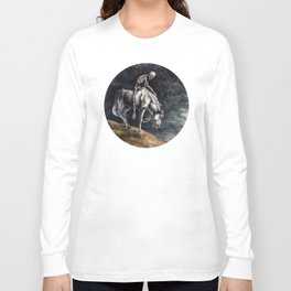 Skeleton Riding a Pale Horse Long Sleeve T-shirt