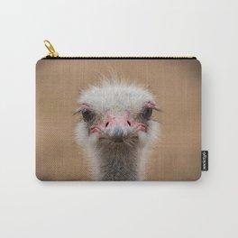 Common Ostrich portrait Carry-All Pouch