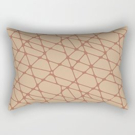 Cavern Clay SW 7701 Abstract Mosaic Pattern 2 on Ligonier Tan SW 7717 Rectangular Pillow