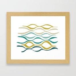 Catch the Wave (Jade) Framed Art Print