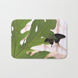 Black Swallowtail Butterfly Bath Mat
