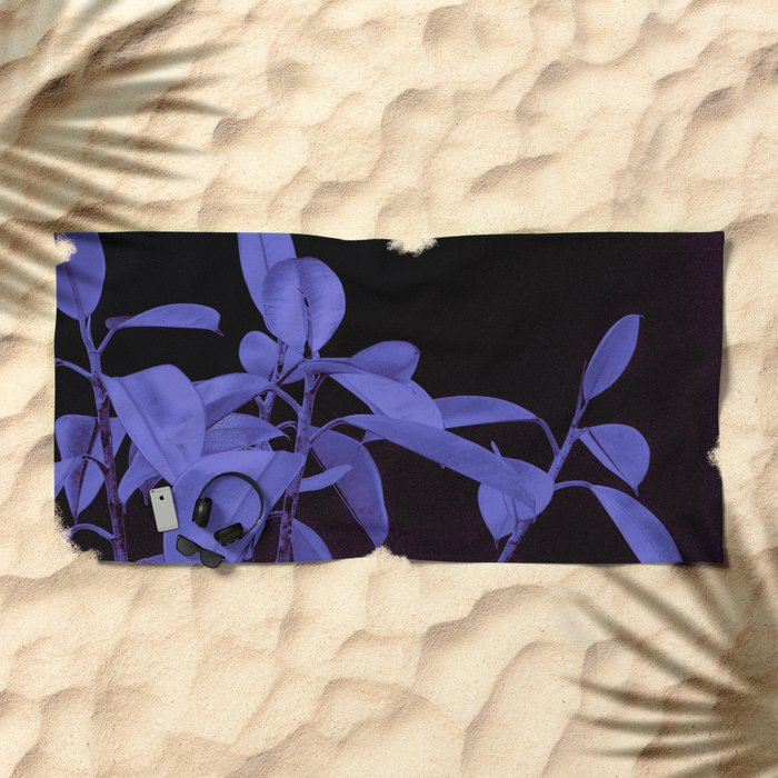 Rubber plant II Beach Towel