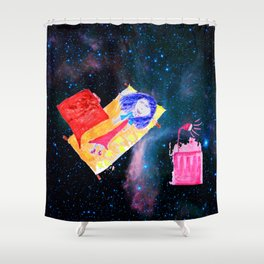 Τhe Universe is our Ηome | Kids Room up to the Space | Cosmos Shower Curtain