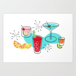 Cabo Cocktails Art Print