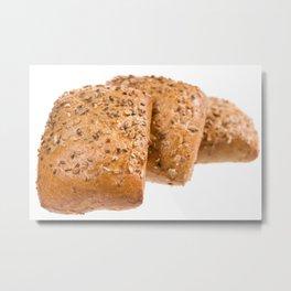 baked graham bread rolls Metal Print
