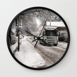 A winters day Wall Clock