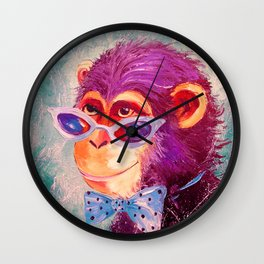 The monkey is a gentleman Wall Clock