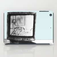 tv iPad Cases featuring Television by Brontosaurus