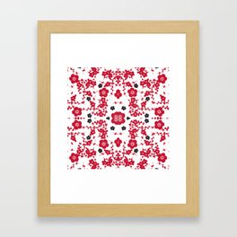Bloody Blossoms Framed Art Print