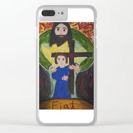 Trinitarian Love Clear iPhone Case