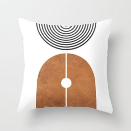 Ver Sacrum 2 - Minimal Geometric Abstract Throw Pillow