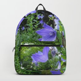 Blue bell flower /Japanese garden Backpack