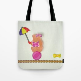 Sally on the tightrope Tote Bag