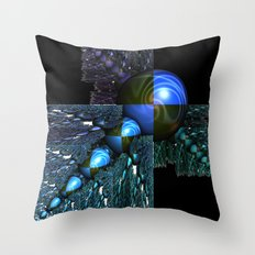 Squares and Spheres Throw Pillow