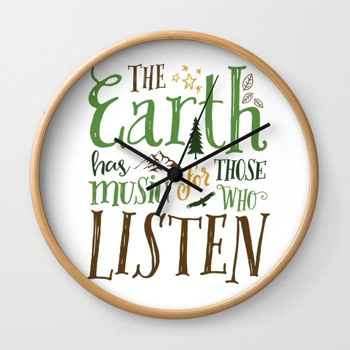 The Earth's Music Wall Clock