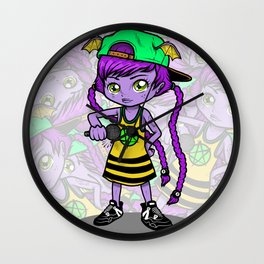 LIL VAMP THE GHOULISH MC Wall Clock