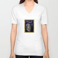 castlevania V-neck T-shirts featuring Dracula Jeopardy by likelikes