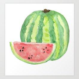 Watermelon Watercolour  Art Print