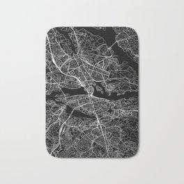 Stockholm Black Map Bath Mat