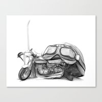 cafe racer Canvas Prints featuring Cafe Racer II by Rainer Steinke